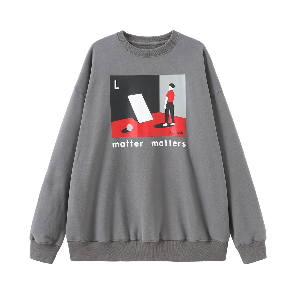 "The ""L is for Look sweatshirt"" - Grey"