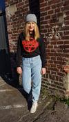 Höllenritt Womens' Cropped Crewneck Pullover Black