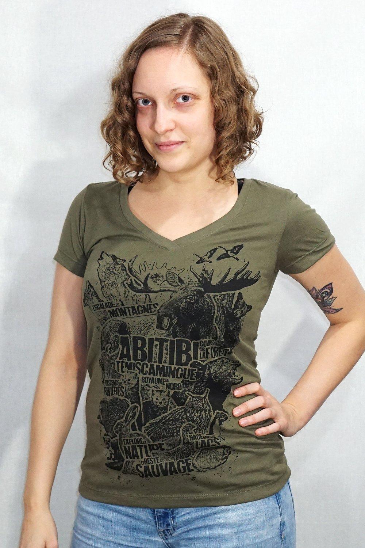 Image of Abitibi-Témiscamingue Animal / Femme V-Neck