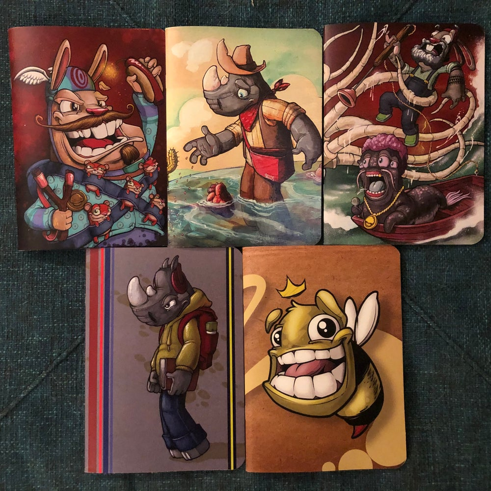 Image of Full Scribble sketchbook set with original drawing in 1 book