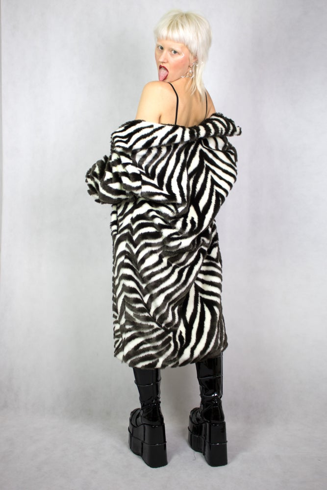 Image of Zebra Faux Fur