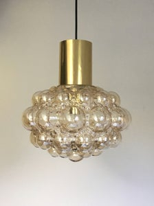 Image of Mid-Century Amber Glass Bubble Light by Helena Tynell (2 Available)