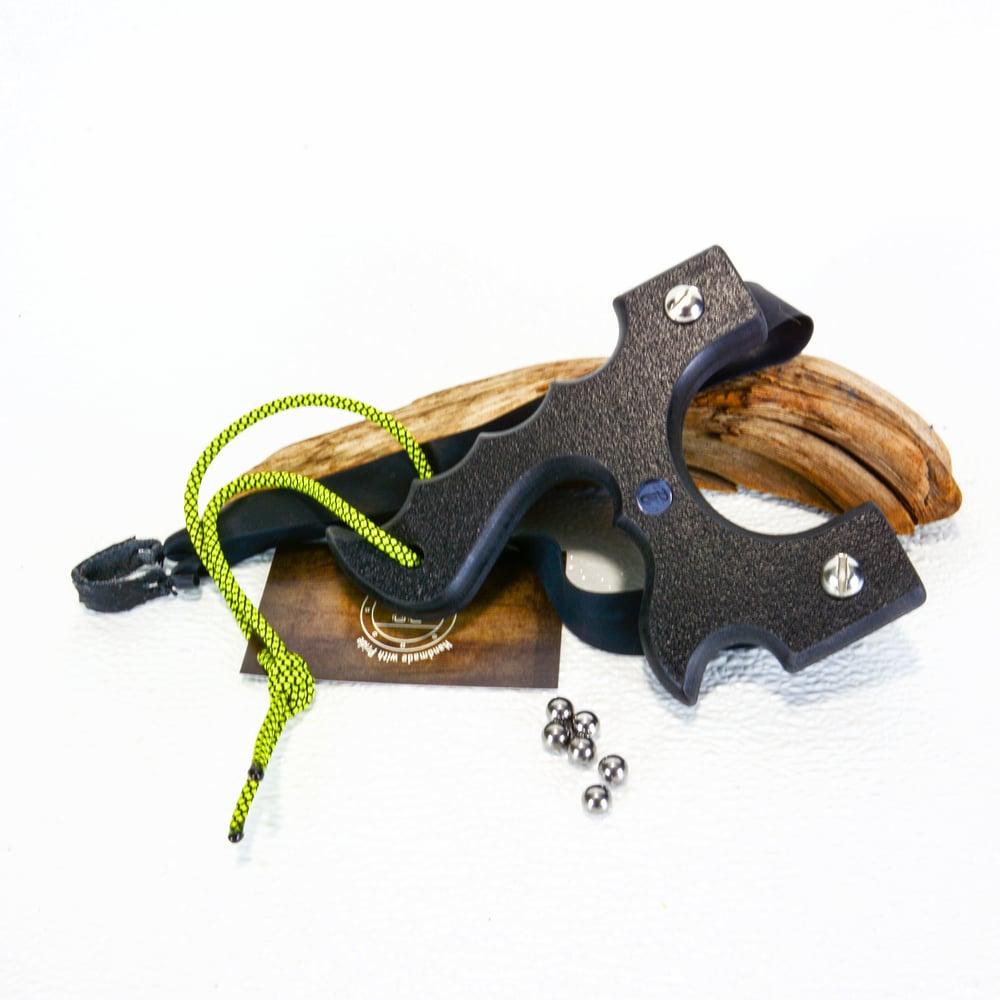 Image of Sling Shot Catapult, Black Textured HDPE,  slingshots, target shooting gifts, unique gift