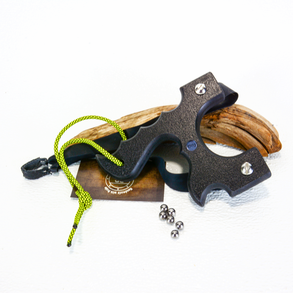 Image of Sling Shot Catapult, Black Textured HDPE,  slingshots, target shooting gifts, unique gift