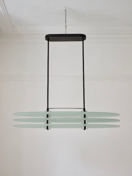 Image of Oval Pendant Light by Quattrifolio, Italy 1980s
