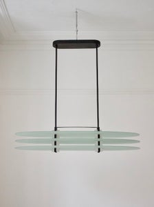 "Image of Postmodern Oval Pendant Light ""Vega"" by Quattrifolio, Italy 1980s"