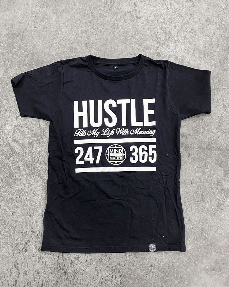 Image of HUSTLE SHIRT | BLACK