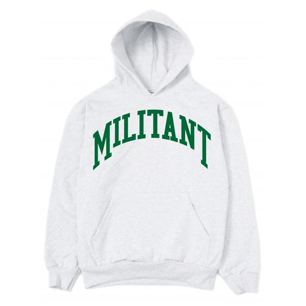 Image of 14oz Militant Grey Hoodie