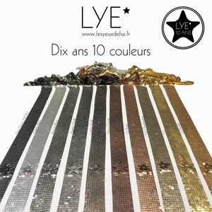 Image of Gourmette Large / Wide Bracelet SEQUINS by LYE*