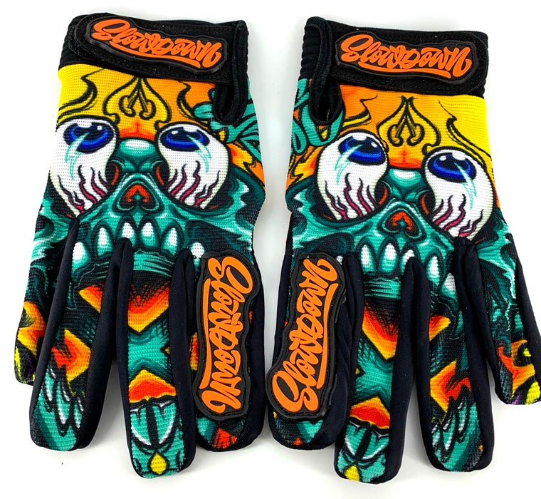Image of Slowdown Skull Gloves Size Large