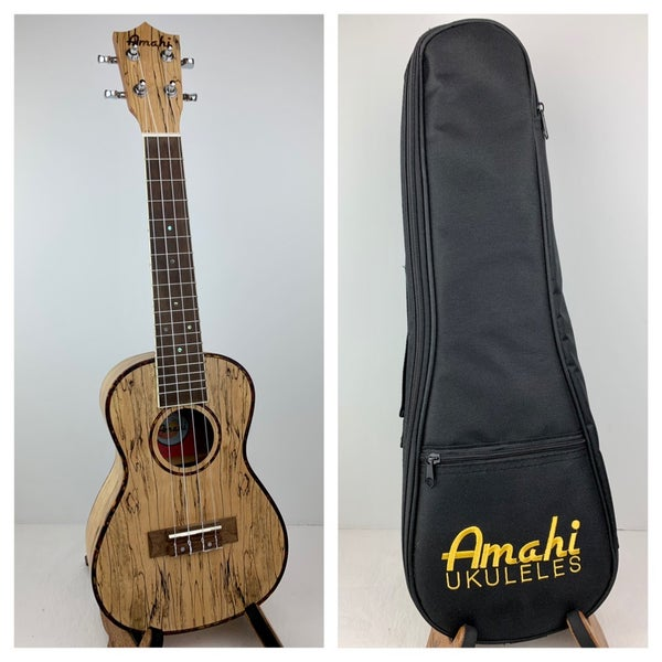 Image of Amahi Spalted Maple Concert Size Ukulele w/Soft Case