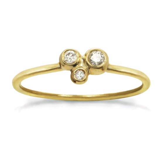 Image of Dainty 14k gold Diamond Constellation Ring