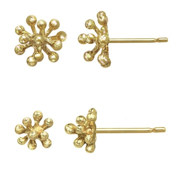 Image of Yellow Gold Small and Medium Dandelion Studs (sold separately per pair)