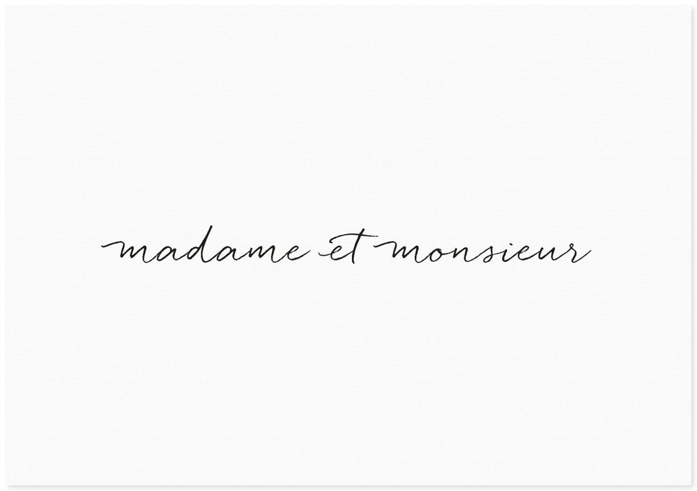 Image of madame et monsieur