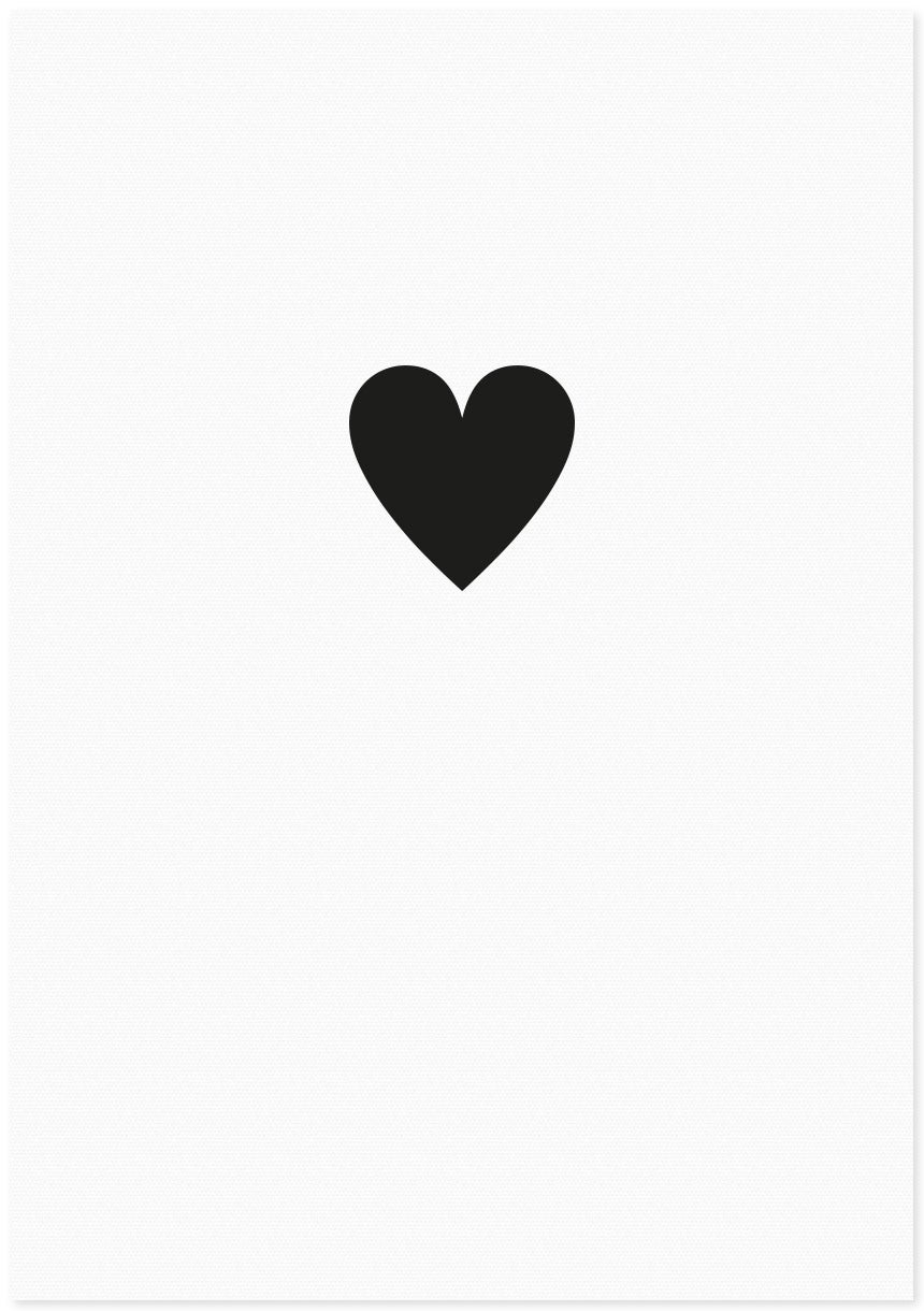 Image of LOVE HEART | SMALL BLACK