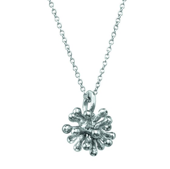 Image of Medium Sterling Silver Dandelion Necklace