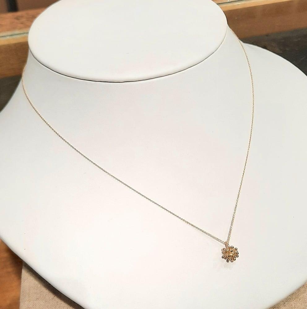 Image of Yellow Gold Medium Dandelion Necklace