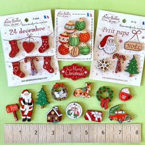 Image of New French Buttons & Christmas themed