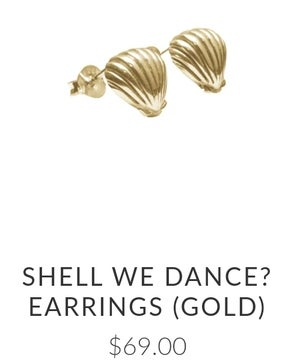 Image of Luna&Rose 'Shell we dance?' Earrings. Gold.