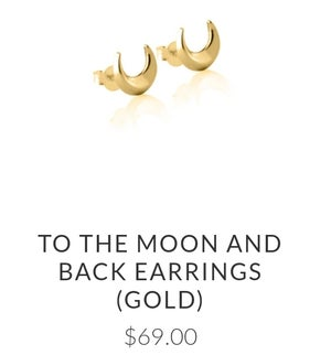 Image of Luna&Rose 'To the Moon and Back.' Earrings. Gold.