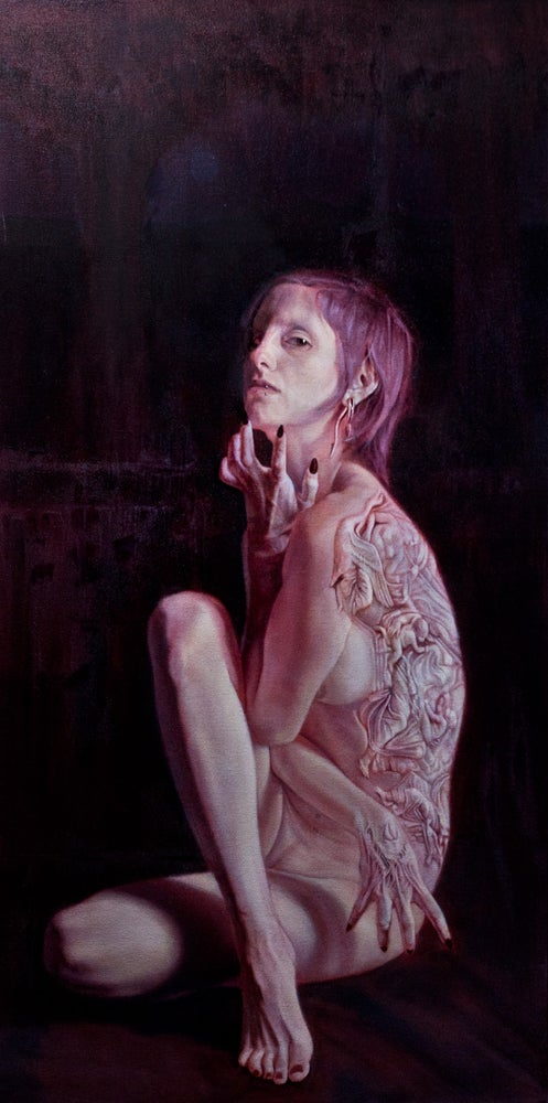 """Image of Pythia - 18""""x36"""" Oil on Canvas"""