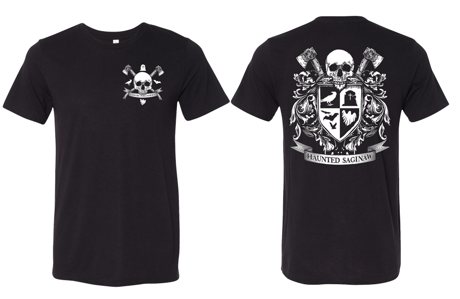 Image of Haunted Saginaw Crest T-shirt [Pre-order ships by 12/17]