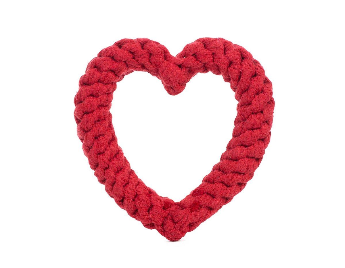 Red Heart Rope Toy - Jax & Bones