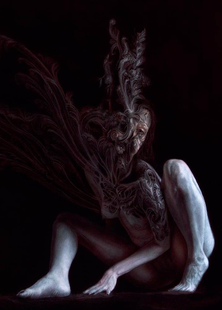 "Image of Datura Fastuosa - 30""x48"" Oil on Canvas"
