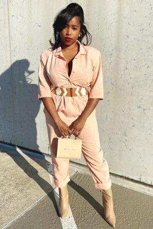 Image of Vintage Peach Jumpsuit