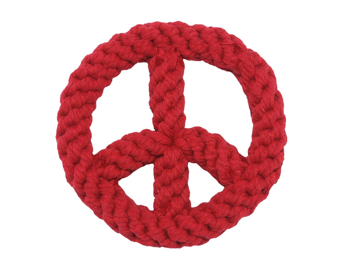 Red Peace Sign Rope Toy - Jax & Bones
