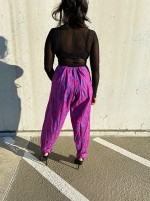 Image of Vintage Printed Blouson Trousers