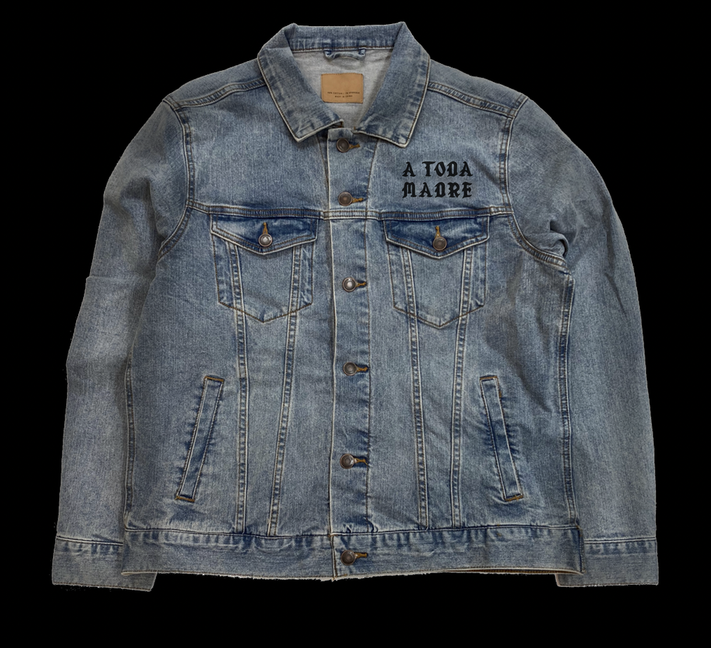 Image of A TODA MADRE JEAN JACKET (FREE-SHIPPING ONLY ON THIS ITEM)