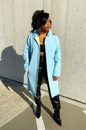 Image of Vintage Reversible Pastel Trench Coat