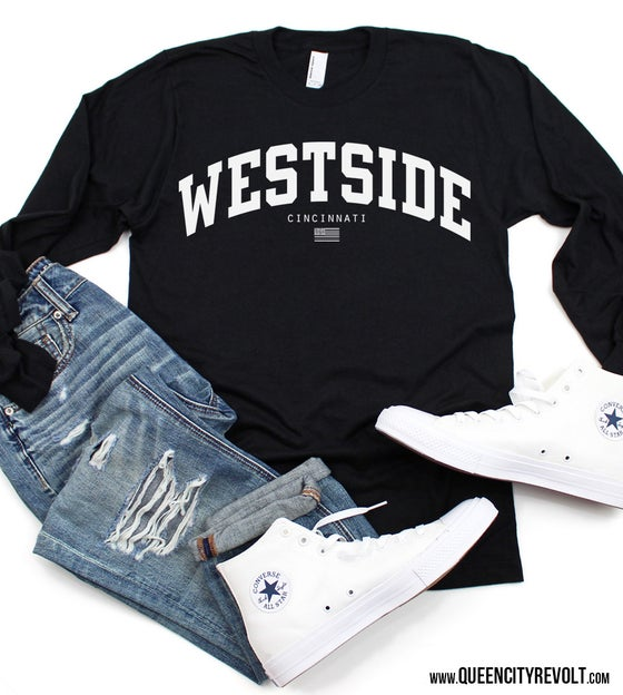 Image of Westside Longsleeve Tee, Black or Light Blue