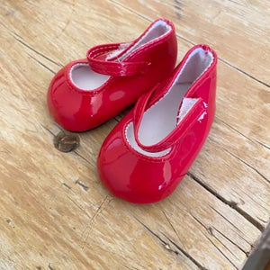 Image of Shoes to suit 38cm Miniland doll - red patent