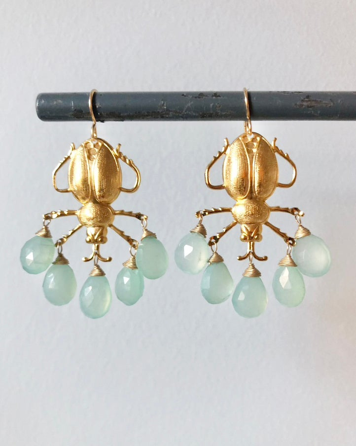 Image of Large Scarab Earring