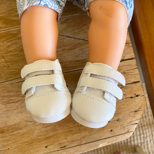 Image of Shoes to suit 38cm Miniland doll - sneakers