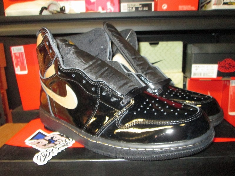 "Image of Air Jordan I (1) Retro High OG ""Blk/Metallic Gold"""