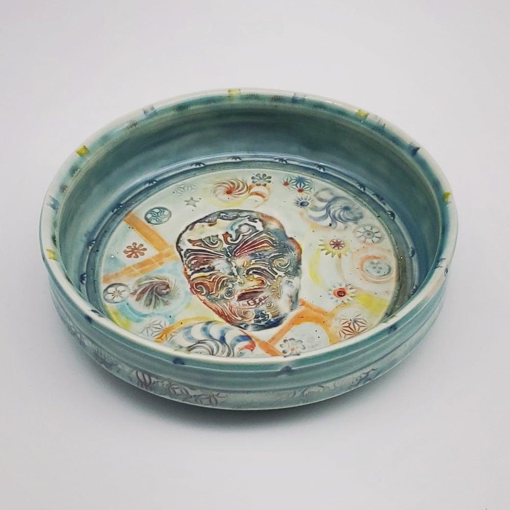 Image of Tatooed Man Porcelain Dish