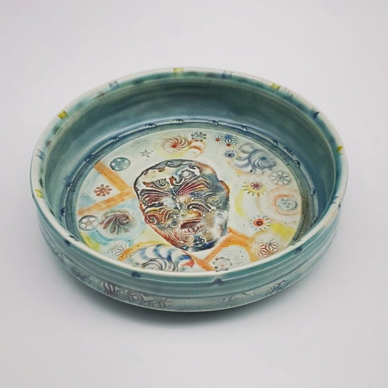 Image of Tatooed Man Porcelain Dish