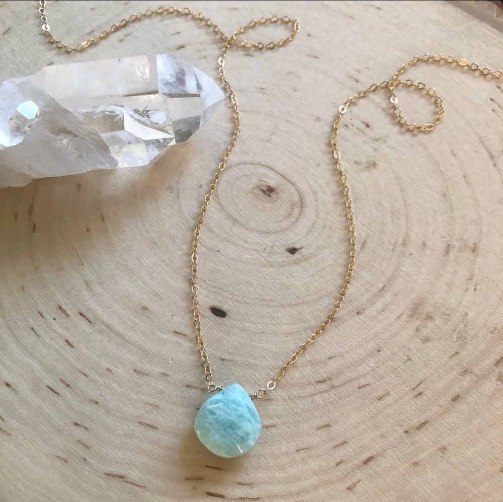 Image of Amazonite teardrop necklace