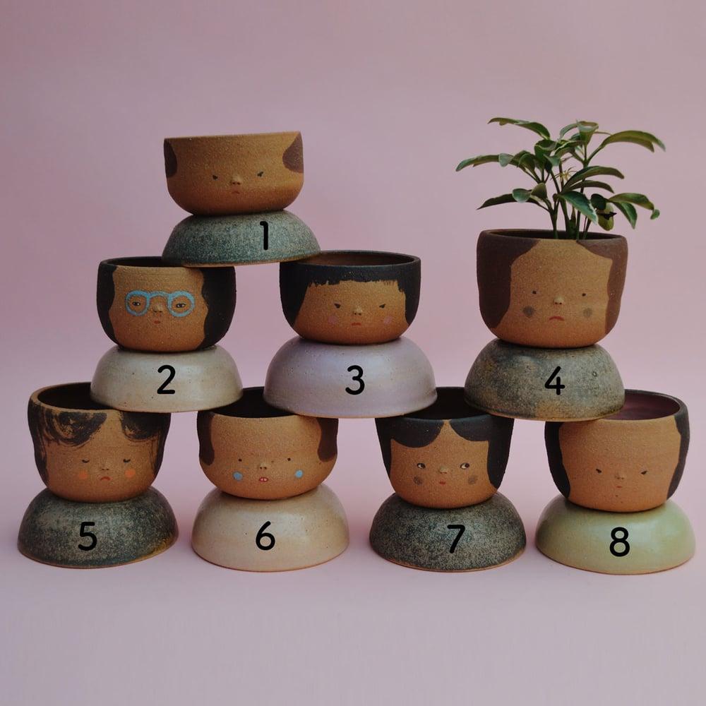 Image of Small Niña Planters- Jicima clay color
