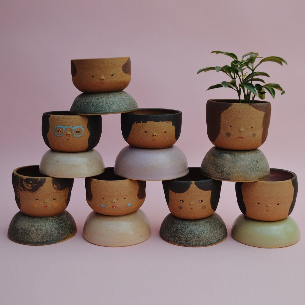 Image of Small Niña Planters- Jicima clay color