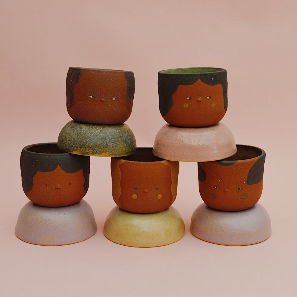 Image of Small Niña Planters- Sweet Potato Clay Color
