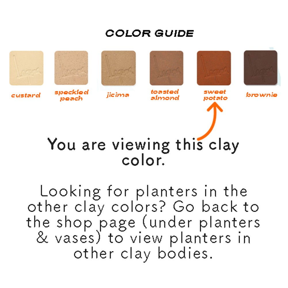 Image of Small Niña Planters- Sweet Potato Clay Color