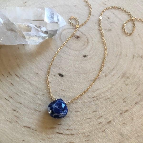 Image of Sodalite teardrop necklace