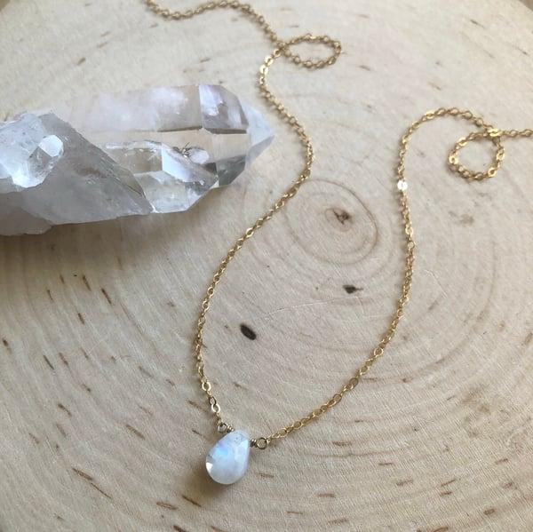 Image of Mini Moonstone pendant necklace