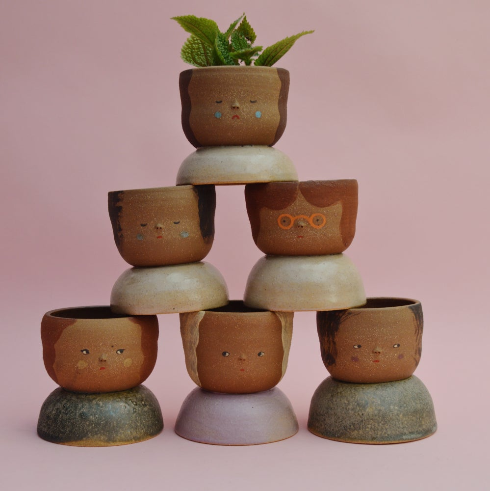 Image of Small Niña Planters- Toasted Almond clay color