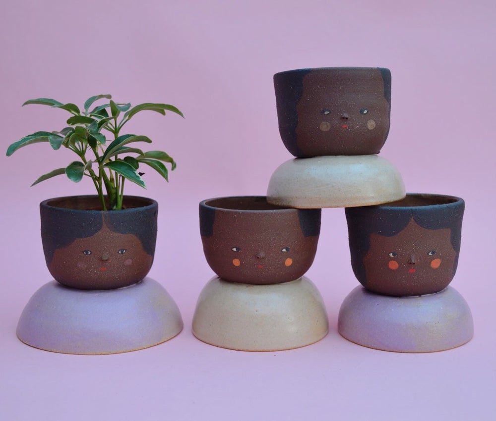 Image of Small Niña Planters- Brownie clay color