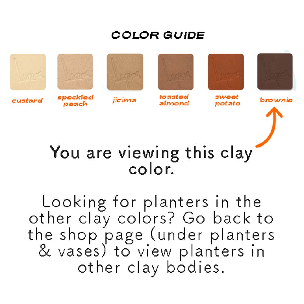 Image of Small Niña Planters- Brownie clay color